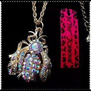 BETSEY JOHNSON ~Flying Bug Necklace